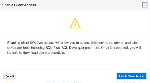 Enable Client Access